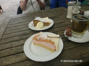 ... dann Torte im Café .-)