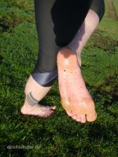 Durch den Tau blitzeblanke Füße :-)