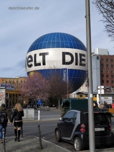 Am Boden, der berühmte Ballon