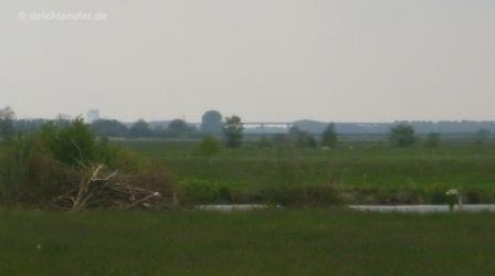 Huntebrücke, schon 10 km zurück